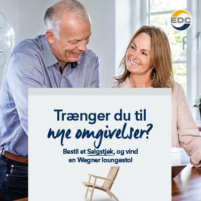 Drømmer du om mere plads – eller måske bare en ny stol til stuen? Så bestil et gratis Salgstjek, og deltag i konkurrencen om en Wegner loungestol til en værdi af 20.940 kr.