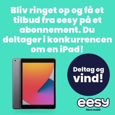 Få et godt tilbud fra eesy på mobilabonnement via mail eller telefon og deltag i konkurrencen om en iPad